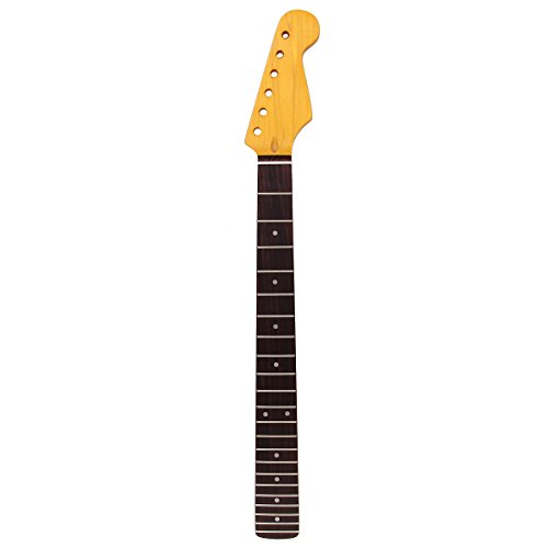 Yellow 22 Frets Maple Guitar Neck Rosewood Fingerboard For Fender ST Replacement