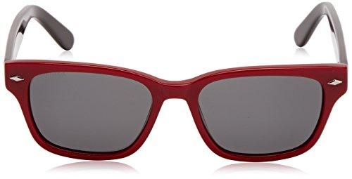 Lunettes soleil de unique Red Burgundy Taille Sunoptic Rouge Homme qCffd