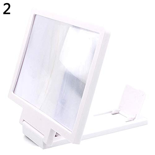 scgtpapadc Universal Mobile Phone Screen Magnifier Holder Enlarge Cell Phone Display Stand White