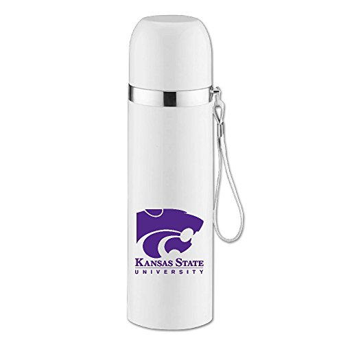 [Caryonom Kansas State University Wildcats K-State KSU Insulated Water Bottle Travel Mug Vacuum Cup For Office Home Outdoor Adult] (Police Chief Child Hat)