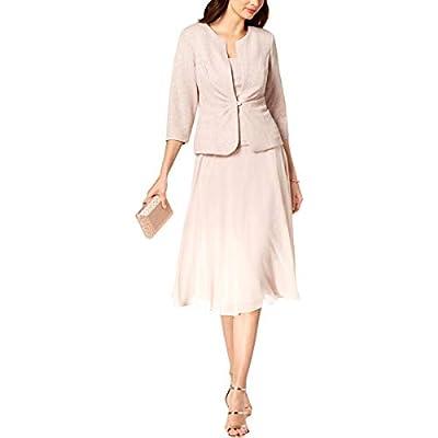 Alex Evenings Women's Tea Length Blazer Jacket Dress (Petite and Regular)