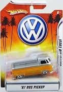 Hot Wheels VW '67 Bus Pickup California Local Yellow