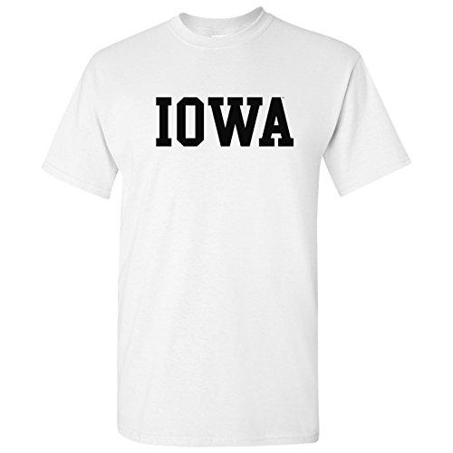 (AS01 - Iowa Hawkeyes Basic Block T Shirt - Medium - White)