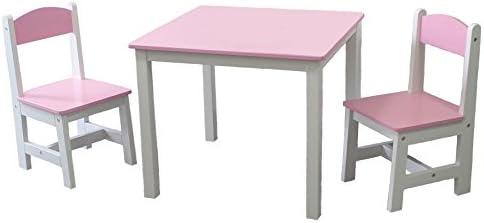 habeig® Niños Mesa + 2 sillas Infantiles Color Rosa IDIMEX Mesa ...