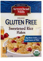 Arrowhead Mills Organic Sweetened Rice Flakes Cereal Gluten Free -- 12 oz