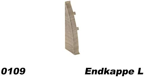 EKL.0101 Kabelkanal Fu/ßleiste Endkappe links f/ür PVC Sockelleisten