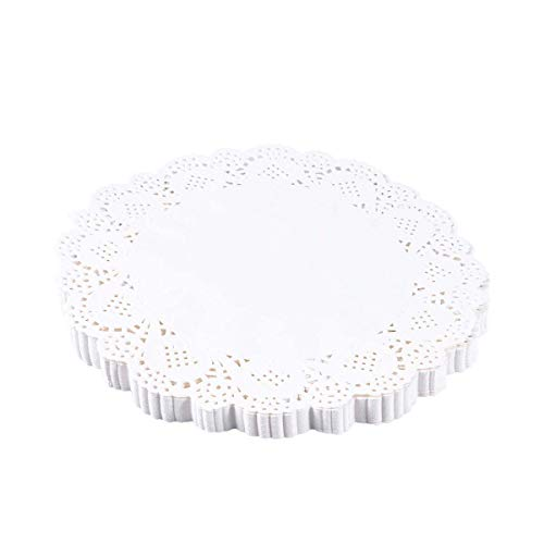Cake Molds - 140 Pcs Paper Placemats Round Lace Flower Pattern Doilies Cake Packaging Pads Fries Desserts Bread - Bundt Shower Leakproof Stainless Aluminum Diamond Numbers Ring Alphabet Shel