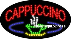 Animated Cappuccino, Logo LED - Sign Led Cappuccino