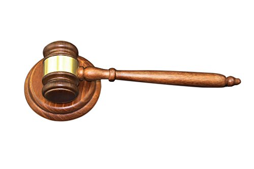 Apexstone Solid Wood Gavel,Wooden Gavel and Round Block for Lawyer Judge Auction Sale (Wood Rounds For Sale)