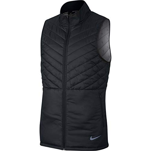 NIKE AeroLayer Men's Running Vest (Black/Atmosphere Grey, Large)