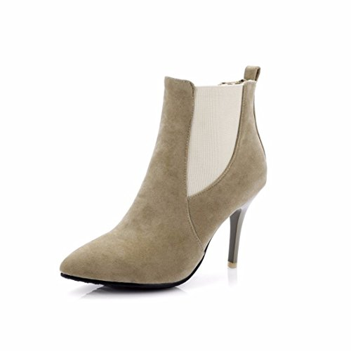 Autumn and winter and scrub with fine cashmere pointed boots boots code Brown (Terry) iSwZIWFt4