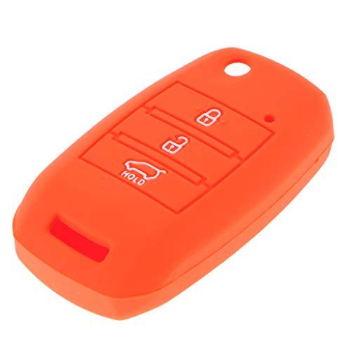B Blesiya Funda Remota De Silicona para Automóvil Funda Inteligente De 3 Botones Auto Key Case para KIA K2 / K3 / K4 / K5...