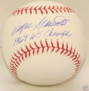Wayne Garrett Autograph baseball New York Mets 1969 (1969 New York Mets Baseball)