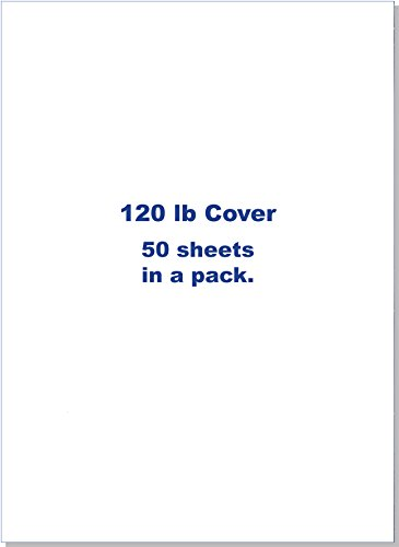 Heavy White Card Stock 8.5 x 11-120 lb Heavy Weight Cover - 50 Sheets Per Pack! by Perfect Impressions