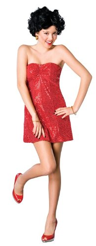 [Rubie's Teens 'Betty Boop' Halloween Costume, Red, Standard] (Halloween Betty Boop Costume)