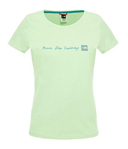 The North Face W S/S NEVER STOP EXPLORING Damen T-Shirt, grün, Größe L