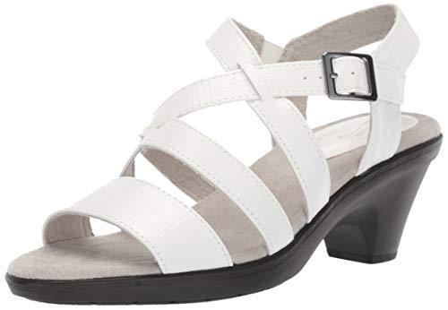 Easy Street Women's Gretchen Dress Casual Sandal Sandal, White Crocodile, 7 N US from Easy Street