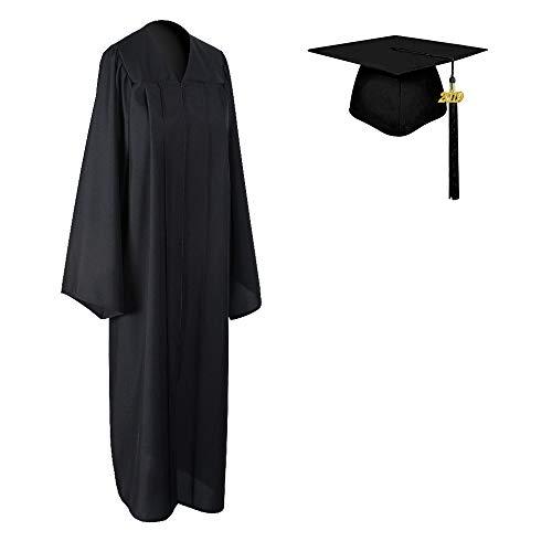 COKOSIM Unisex Adult's Matte Graduation Gown Cap Tassel Set 2019 for High School and College Ceremony,Black Size 54]()