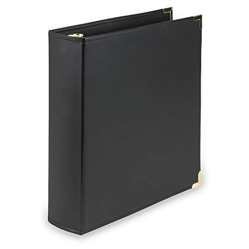 - Samsill Classic Collection Executive Presentation 3 Ring Binder/Portfolio Binder, 2 Inch Binder, Brass Round Ring (Holds 425 Sheets), Black