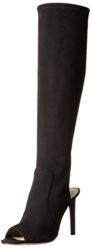 (Nine West Women's Lettie Fabric Combat Boot, Black, 5.5 M US)