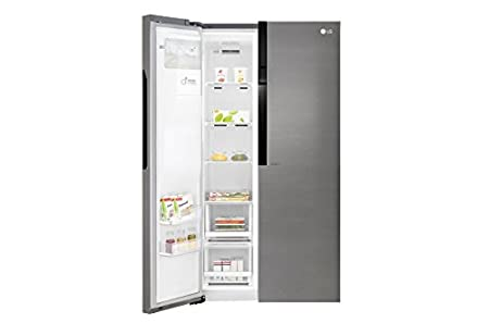LG GSL360ICEV Independiente 591L A+ Grafito nevera puerta lado a lado - Frigorífico side-by-side (Independiente, Grafito, Puerta americana, LED, Tocar, ...
