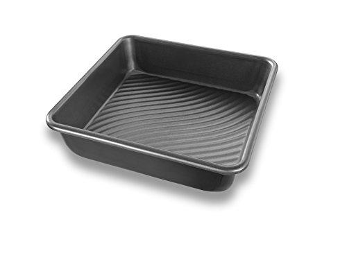 (USA Pan Patriot Pan Bakeware Aluminized Steel 8-Inch Square Cake Pan)
