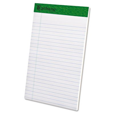 Earthwise 100% Recycled Perforated Pads, Narrow Rule, 5 x 8, White, 12/Pack, Sold as 1 Dozen