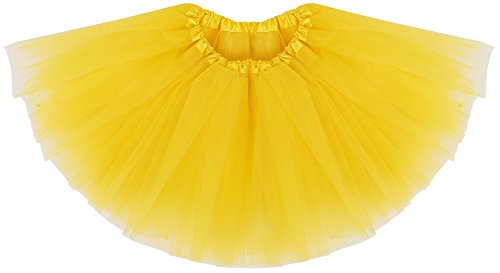 Cute Homemade Baby Costumes (Simplicity Baby Layered Tulle Tutu Skirt for Dress Up & Fairy Costumes,Yellow)