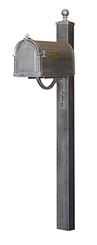 (Special Lite Berkshire Curbside Mailbox with Springfield Mailbox Post - Swedish Silver)
