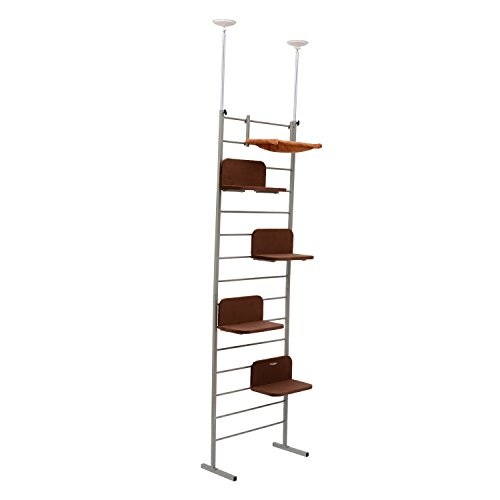 pawhut-108-floor-to-ceiling-adjustable-staggered-climbing-cat-tree-tower