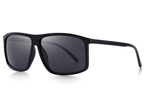 OLIEYE Men's Polarized Sunglasses For Driving Oversized Rectangular Sun glasses ()