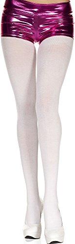 ToBeInStyle Women's Spandex Cotton Blend Semi-Opaque Tights Hosiery Pantyhose - White