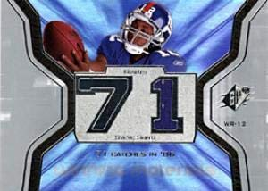 Steve Smith Upper Deck 2007 SPX Game-Used Winning Materials Card #WMS-SS - New York Giants - Unsigned Football Cards