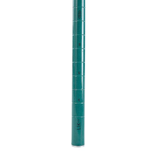 Nexel  Post For Wire Shelving, Green Epoxy Finish, 63