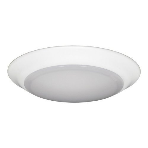 Jesco Lighting CM405M-27wH 2700K LED Low Profile Ceiling Fixture ADA Sconce/Retrofit with Polycarbonate Shade, White, 6