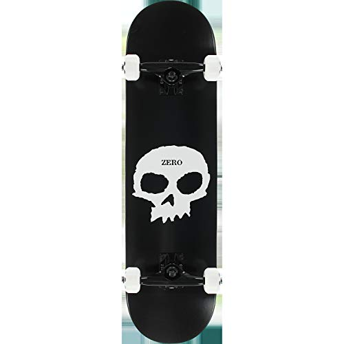 "Zero Skateboards Single Skull Black/White Complete Skateboard - 8"" x 32"""