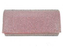 CB059 Fushia - Fully Diamante Evening Clutch Bag
