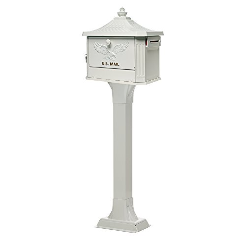 (Gibraltar Mailboxes HEK00W01 Hemingway Security Mailbox, Large, White)