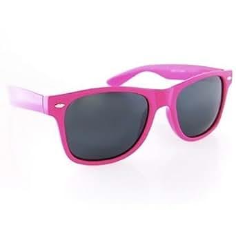Amazon.com: (Hot Pink) Wayfarer Neon Sunglasses: Clothing