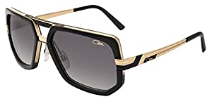 Cazal 662 Sunglasses 001SG Black/Gold Grey Gradient Lens 60mm
