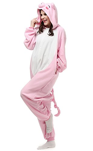 Famycos Kids Adults One-Piece Costumes Pyjamas for School Party Performance (S, Pink -