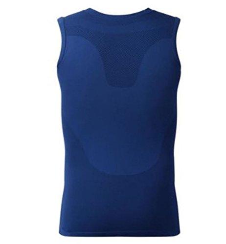 Price comparison product image Men's Belly Slim Shirt Corset Round Neck Body Shaper Vest Slimming by AdvancedShop (L, Blue)