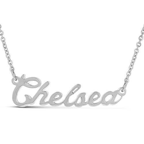Beam Reach Chelsea Nameplate Necklace in Silver - Chain Chelsea