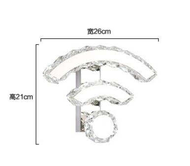 Best to Buy 9W Modern Luxury Crystal Wall Light WIFI design Chrome Finish Wall Sconce Lighting Fixture (White) by BTB® (Image #8)
