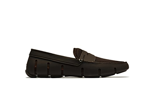 SWIMS Men's Penny Loafer for Pool and Summer - Brown, 8 by SWIMS