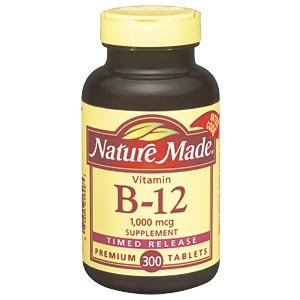 Nature Made vitamine B-12 1000 Time Release mcg - 300 comprimés