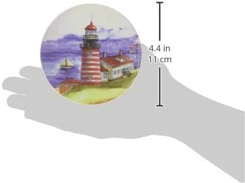 4-1//4-Inch,Lighthouses by Wendy Buser Set of 4 Lighthouses by Wendy Buser CoasterStone AS2095 Absorbent Coasters