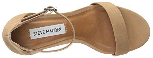 Steve Madden Ladies Sandalo Infradito Sandalo Con Cinturino In Nabuk Marrone Chiaro