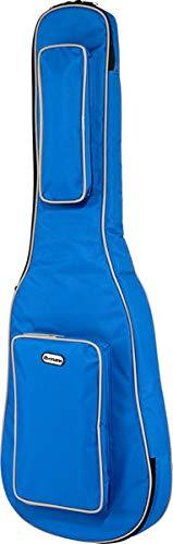 Bolsa acolchada para guitarra eléctrica thomann con bolsillos y correa, turquesa