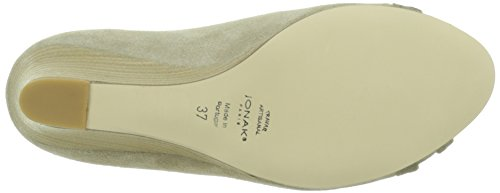 JONAK Denou - Zapatos de vestir Mujer Beige - Beige (Velours Laminé/Velours/Taupe)